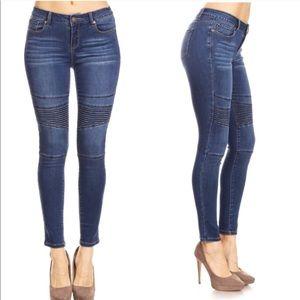 Moto Super stretch ankle skinny jeans